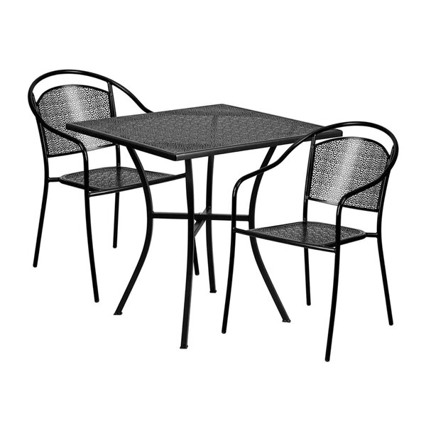 Inez Outdoor Steel 3 Piece Dining Set by Ebern Designs