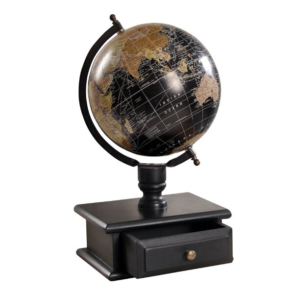 Vintage MDF Wood Storage Drawer Globe by Charlton