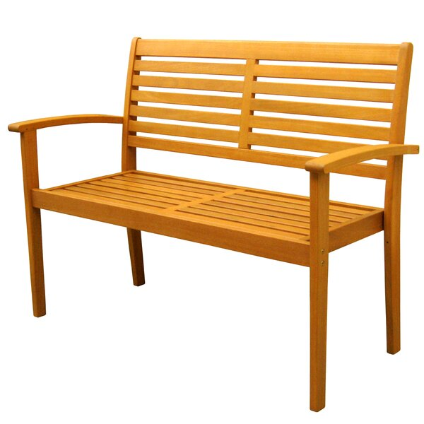 Sabbattus Oslo Wood Garden Bench by Breakwater Bay