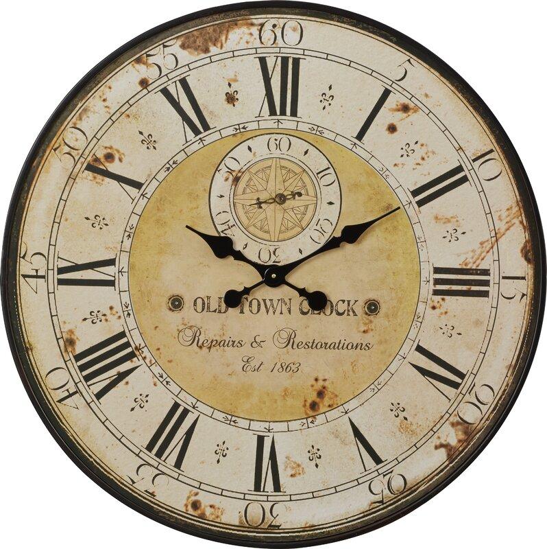 Simona Round Oversized Wall Clock & Reviews | Joss & Main