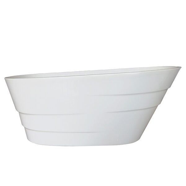 Podova 67 x 32 Freestanding Soaking Bathtub by Vinnova