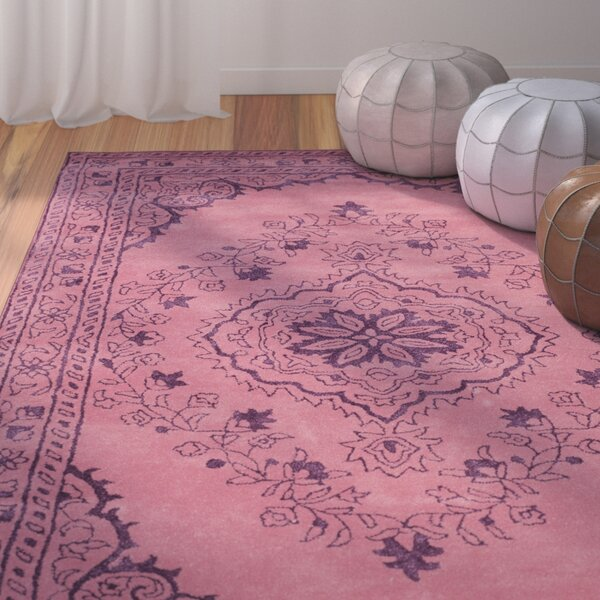 Samaniego Hand-Tufted Pink Area Rug by Bungalow Rose