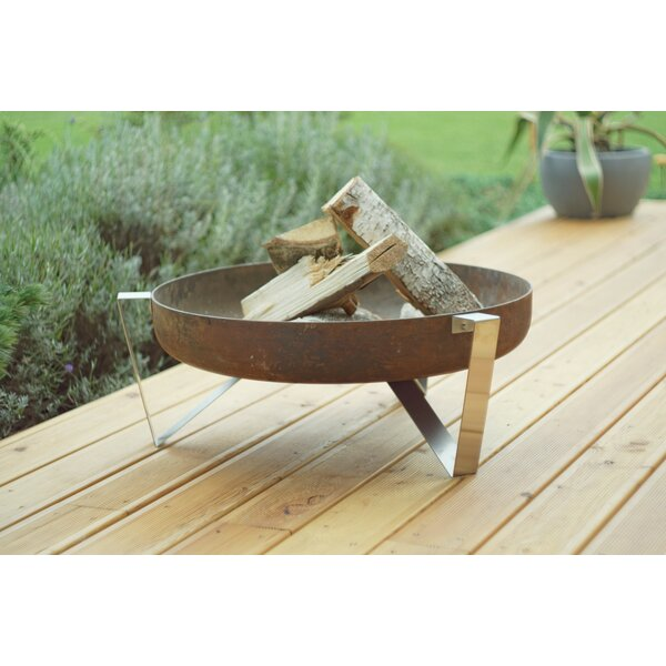 Agila Stainless Steel Wood Burning Fire Pit by Curonian