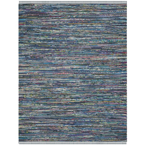 Eastport Hand Woven Cotton Blue Area Rug by Beachcrest Home