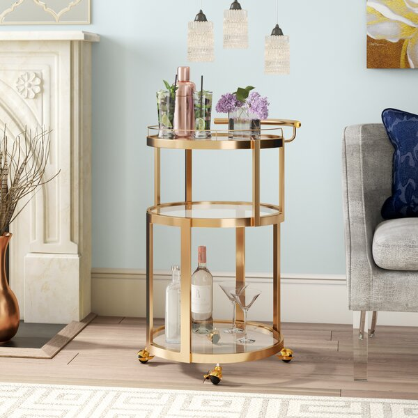 Gayden Bar Cart by Everly Quinn Everly Quinn