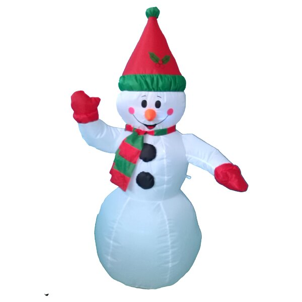 Christmas Inflatable Snowman Decoration by Three Posts