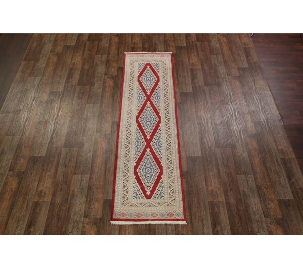 Southridge Bokhara Balouch Afghan Pakistani Traditional Oriental Hand-Knotted Wool Red/Burgundy Area Rug by Bloomsbury Market