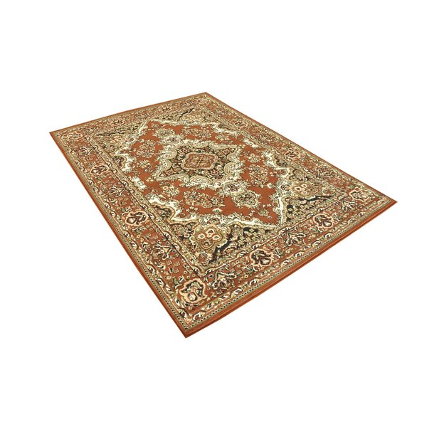 Stevens Oriental Classic Rectangle Brown/Beige Indoor Area Rug by Astoria Grand