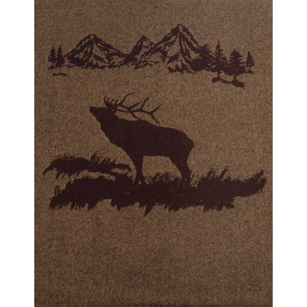 Puccio Mountain Rocky Elk Throw by Loon Peak