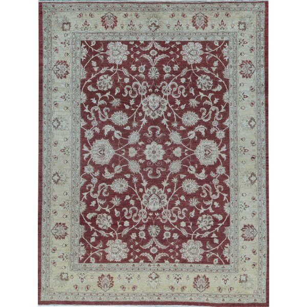 Ziegler Oriental Hand-Knotted Wool Red/Gold Area Rug