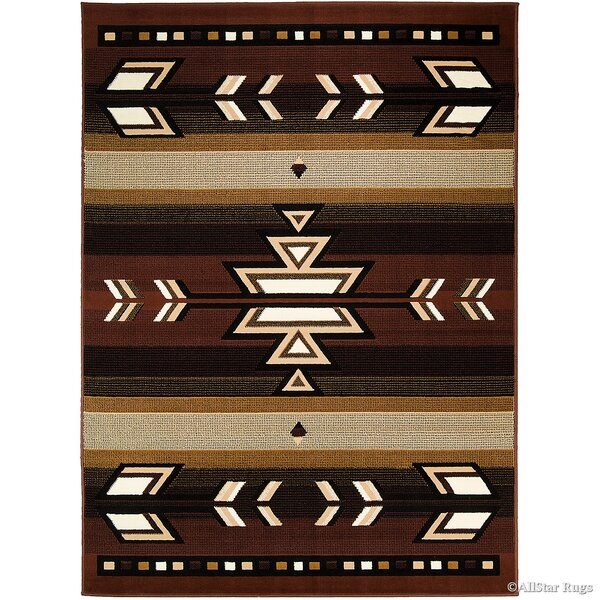 Hand-Woven Dark Brown Area Rug by AllStar Rugs