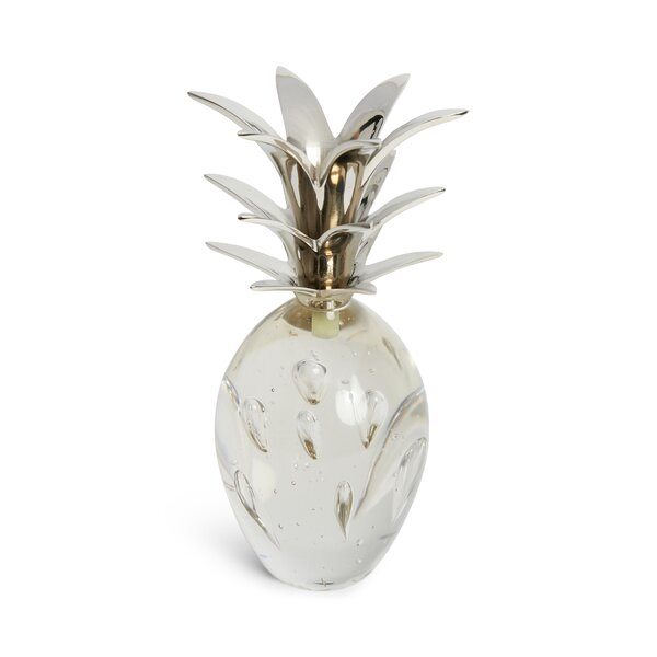 Silver Glass Stem Pineapple by Bay Isle Home