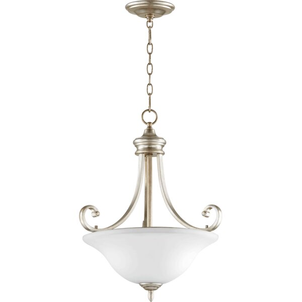 Asheville Transitional 3-Light Bowl Pendant by Andover Mills