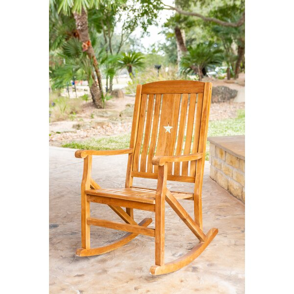 Lamas Teak Rocking Chair by Millwood Pines