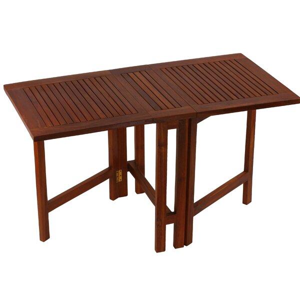 Kinner Folding Teak Dining Table by Highland Dunes