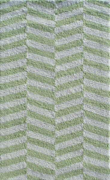 Handmade Green/White Area Rug by Park Avenue Rugs