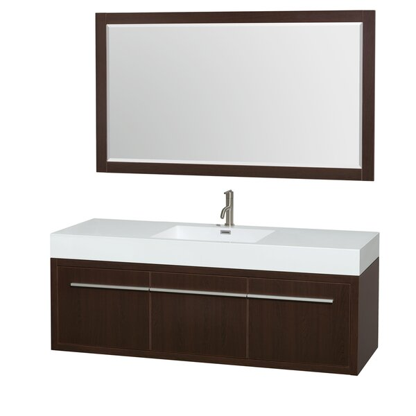Axa 60 Single Espresso Bathroom Vanity Set with Mirror by Wyndham Collection