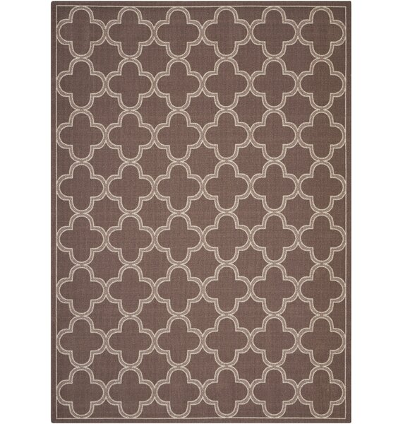 Sun and Shade Indoor/Outdoor Chocolate Area Rug by Waverly