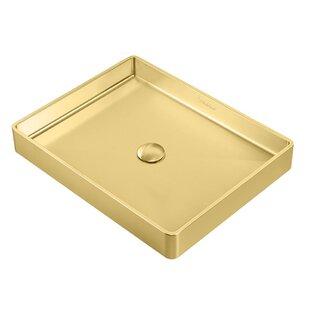 Compare Noah Plus Metal Rectangular Vessel Bathroom Sink ByWhitehaus Collection