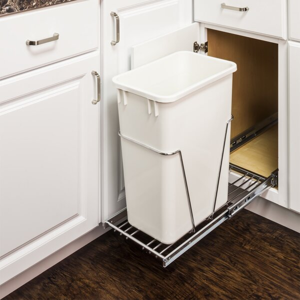 Steel Pull Out/Under Counter Trash Can Holder by Hardware Resources