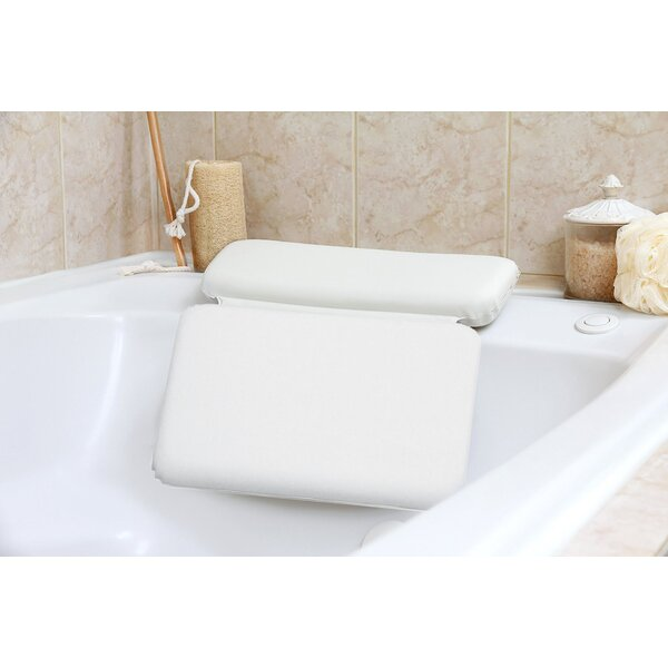 Zaria Non Slip Spa Bath Pillow 2 Panel Powerful Gripping Suction Cups Cushioned Head Shoulder and Neck Support by Symple Stuff