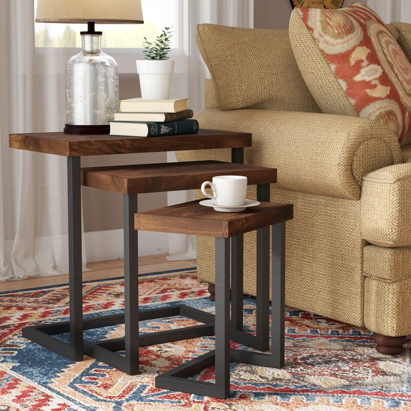 Trent Austin Design Crenata Piece Nesting Tables Reviews Wayfair - 3 piece nesting coffee table