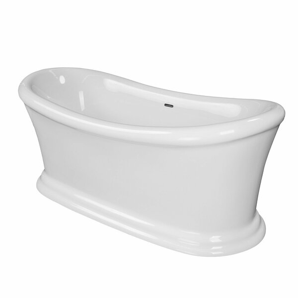 Ida 67 x 29 Freestanding Soaking Bathtub by Maykke