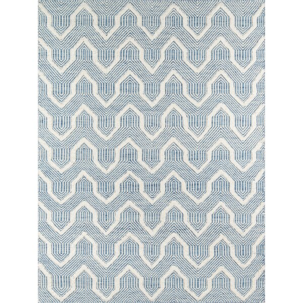 Langdon Prince Hand-Woven Wool Blue Area Rug by Erin Gates by Momeni