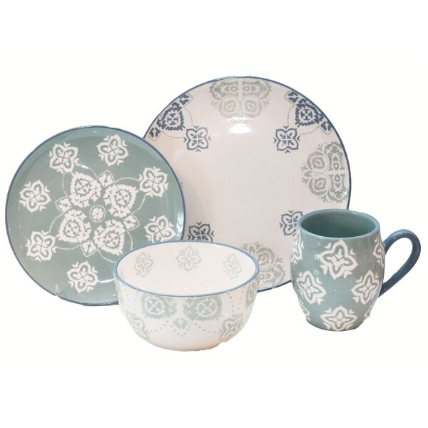 Painterly 16 Piece Dinnerware Set, Service for 4 by Baum
