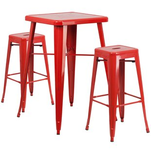 Red Pub Tables & Bistro Sets You\'ll Love   Wayfair