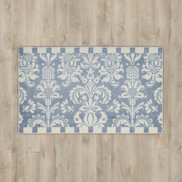 Poquonock Blue/White Area Rug by Charlton Home