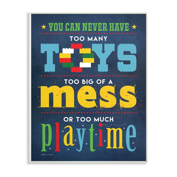 Farnum Toys Mess and Playtime Decorative Plaque by Harriet Bee