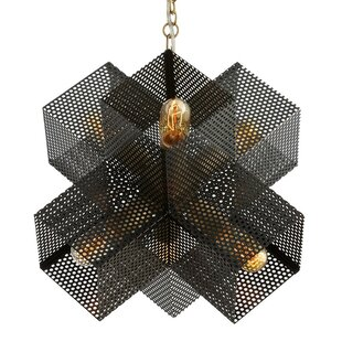 Reviews Dax 6-Light Geometric Chandelier By ARTERIORS