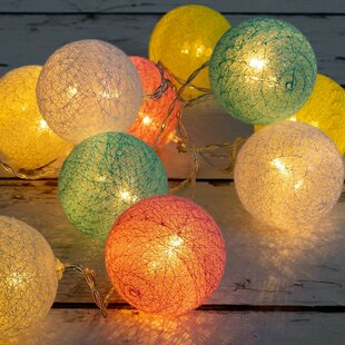 Compare prices Daphne 20 LED String Fairy Light with Ball and Beads By The Holiday Aisle