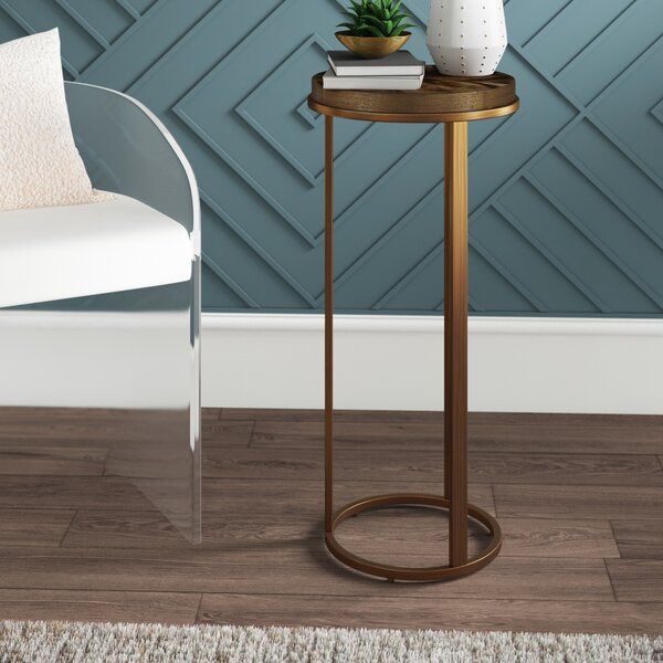 Shoalhaven Pedestal End Table by Mercury Row