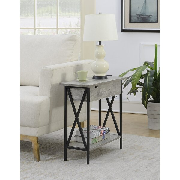 Abbottsmoor End Table With Storage by Andover Mills