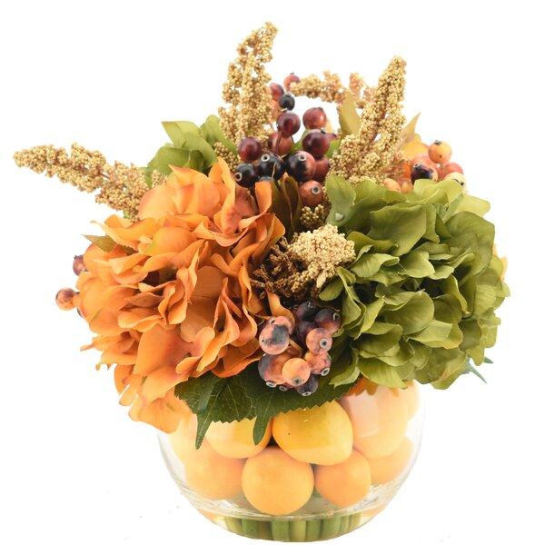 Mixed Hydrangeas Flower Centerpiece in Decorative Vase by Charlton Home