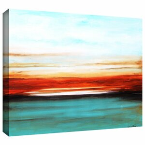 'Sunset' Painting Print on Wrapped Canvas by Zipcode Design