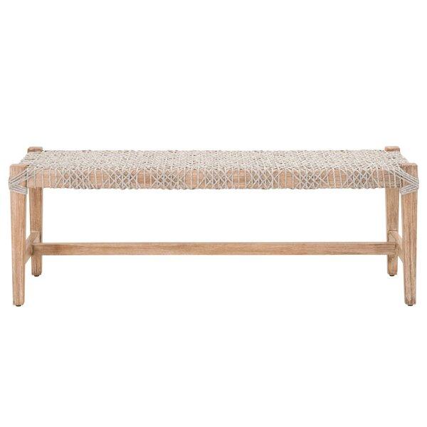 Kiley Wood Bench by Mistana Mistana