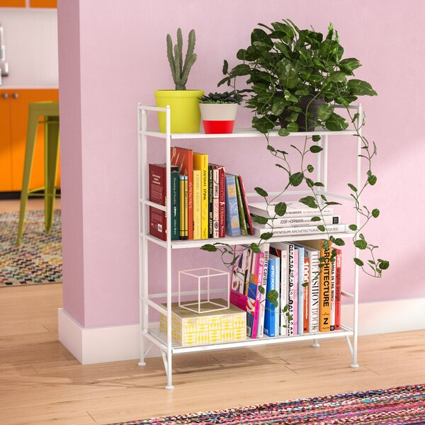 Dondale 3 Tier Wide Folding Etagere Bookcase by Zipcode Design