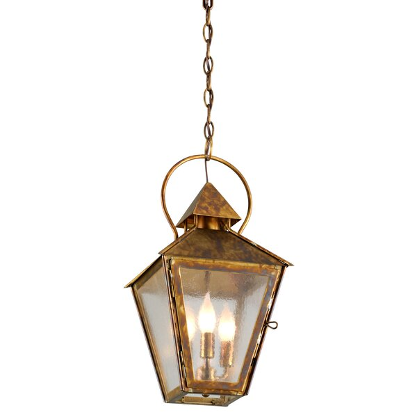Ilbert 3-Light Outdoor Hanging Lantern by Canora G