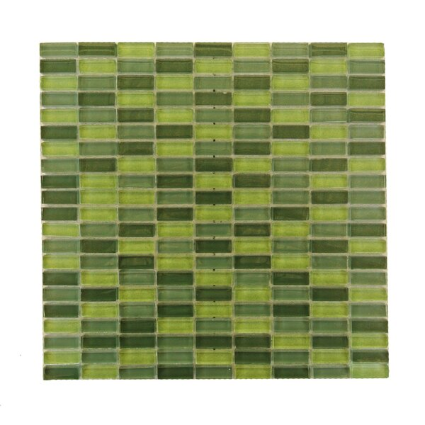 Epiphany 0.5 x 1.25 Glass Mosaic Tile in Glazed Eden Mix by Abolos