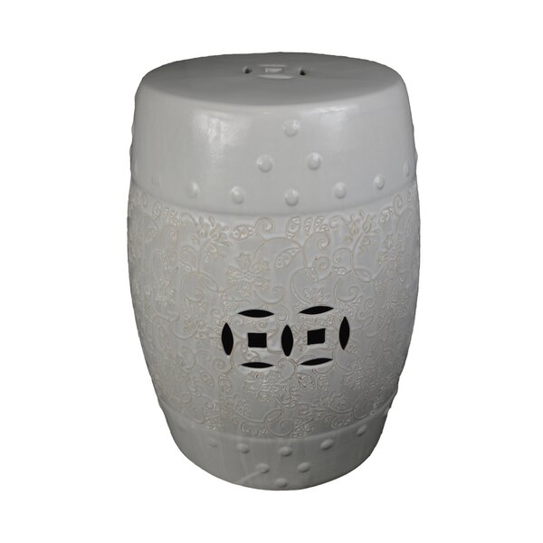 Iyanna Ceramic Garden Stool by Charlton Home