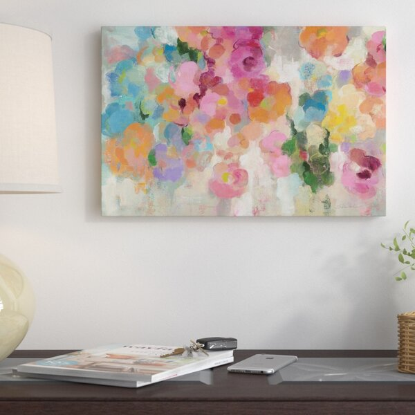 Colorful Garden I Painting Print on Wrapped Canvas by East Urban Home