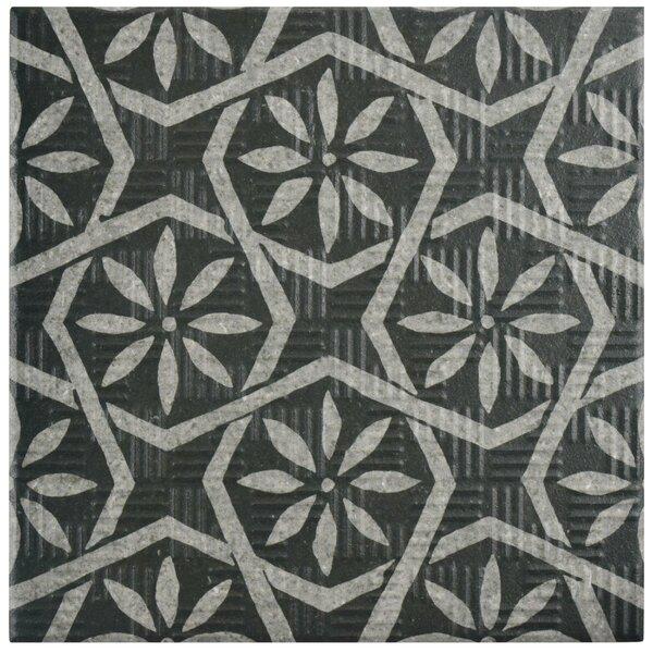Region 6 x 6 Porcelain Field Tile in Black/Gray by EliteTile