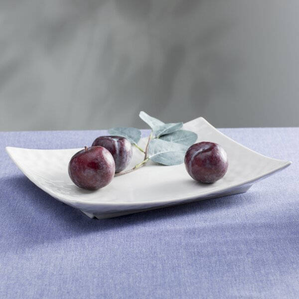 Vanilla Marble 10.5 Rectangular Platter by Red Vanilla