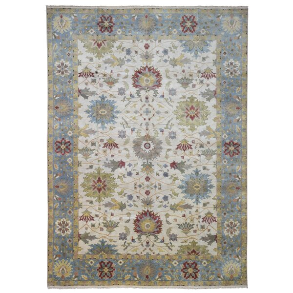 Carmon Handwoven Flatweave Wool Blue/Beige Area Rug by Darby Home Co