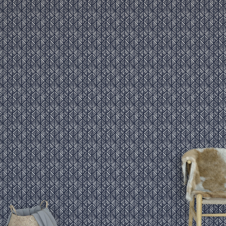 Kavka Abstract Leaf Smooth Peel And Stick Wallpaper Panel Wayfair