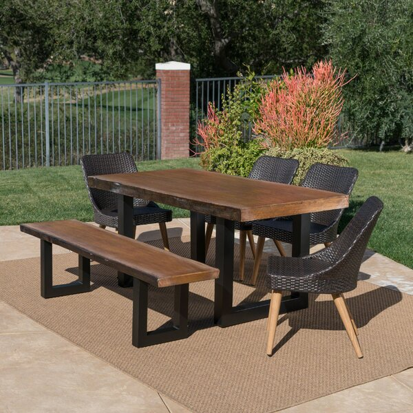 Croghan Outdoor 6 Piece Dining Set by Foundry Select
