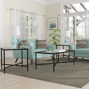 melanie 3 piece coffee table set - Modern Coffee Table Sets